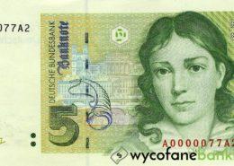 wycofane banknoty 5 marek