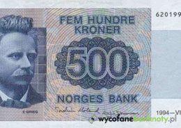 wycofane z obiegu korony norweskie