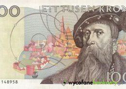 1000 wycofanych koron szwedzkich